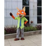Nick Fox Mascot Costume Zoo Role Playing Free Shipping