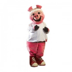 Ollie Oink Pig Mascot Costume Free Shipping