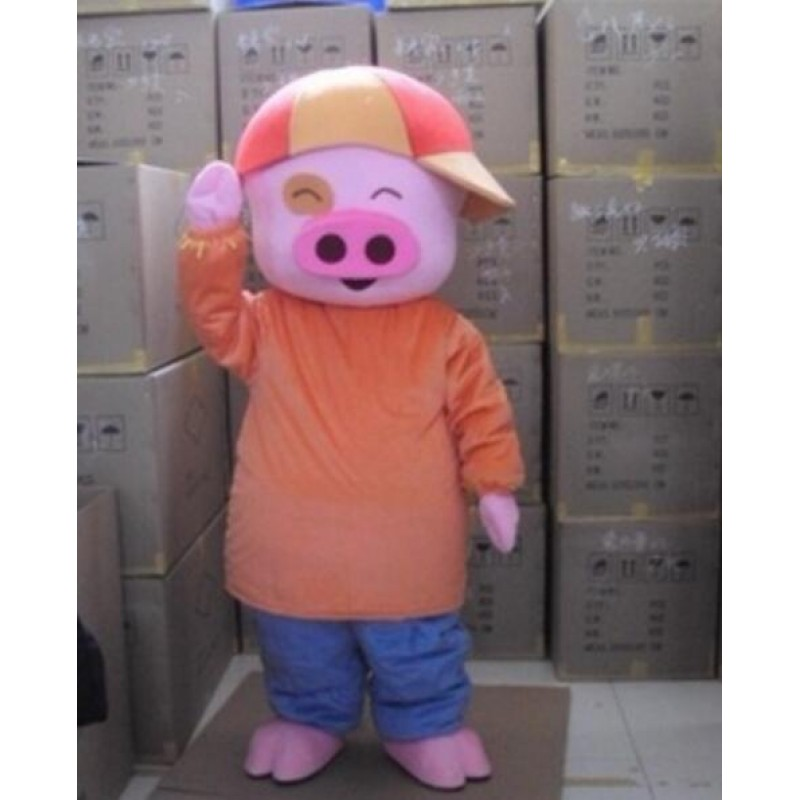 Pig Mascot Costume Mcdull Cartoon Free Shipping
