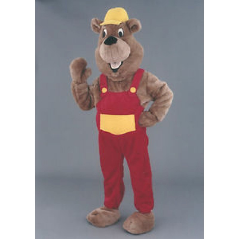 Model Beaver Mascot Walking Act Promotion Costume