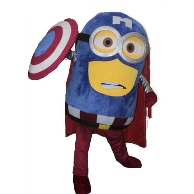 Captain America Despicable Me Minion Mascot Costume