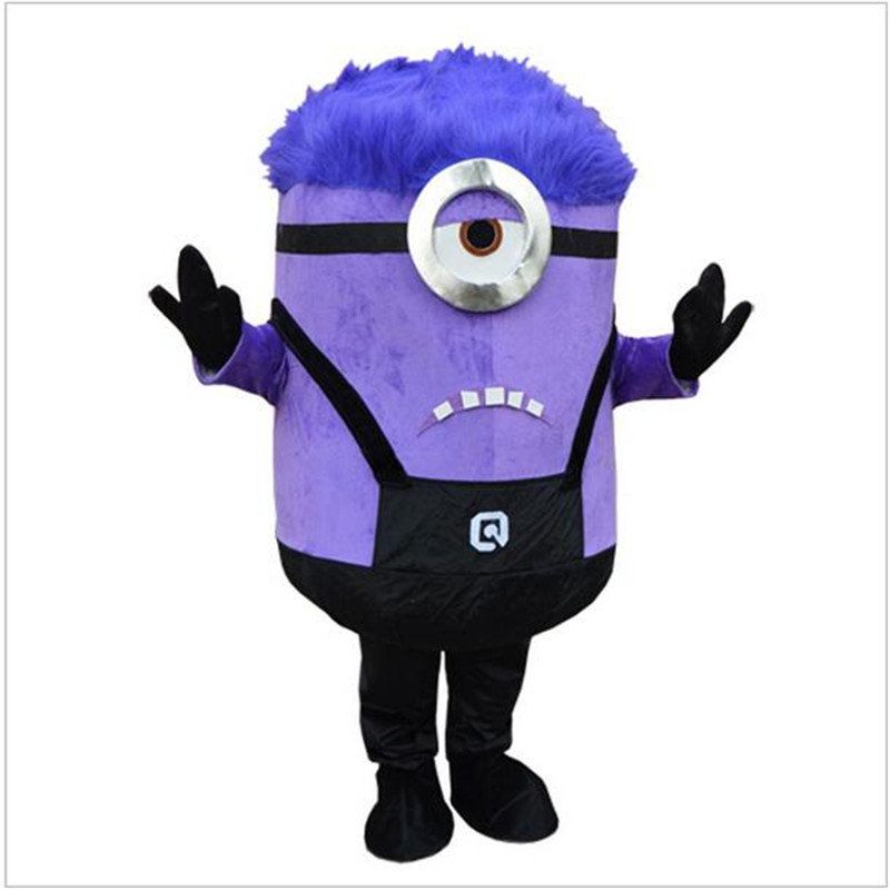 Purple Despicable me Minion Mascot Costume