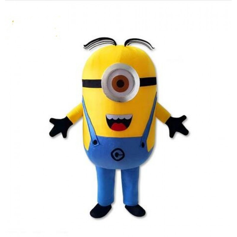 Cute One Eye Despicable Me Minion Mascot Costume NO.2