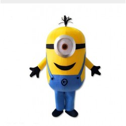 Funny One Eye Despicable Me Minion Mascot Costume