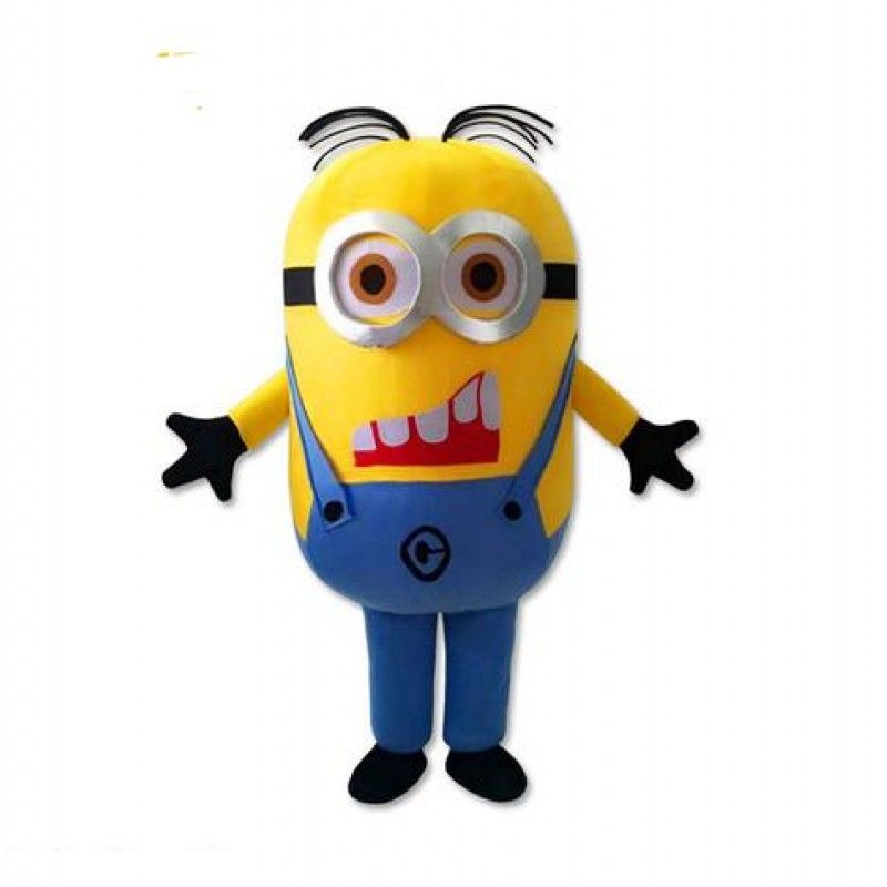 New Funny Despicable Me Minion Mascot Costume