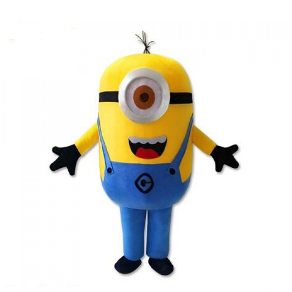 High Quality One Eye Despicable Me Minion Mascot Costume