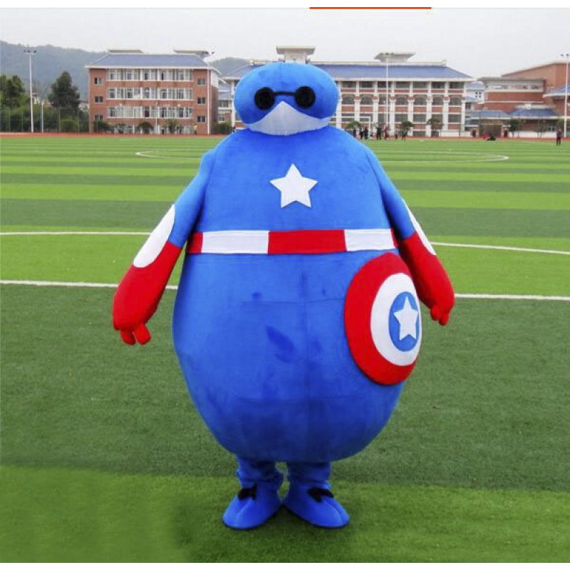Captain America superman Baymax Mascot Costume