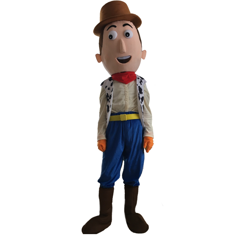 Cartoon Cowboy Woody Mascot Costume