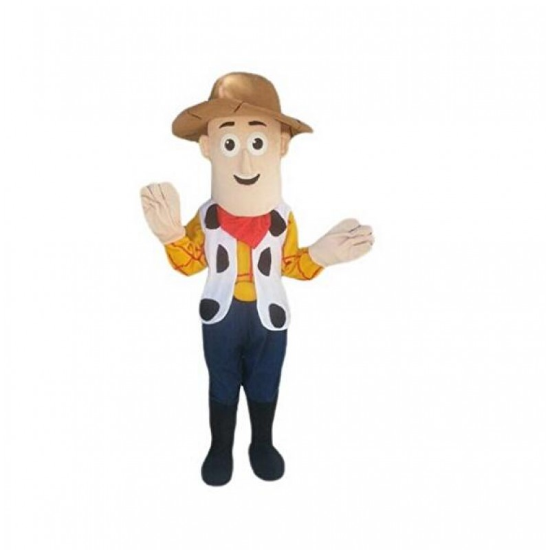 High Quality Cowboy Woody Mascot Costume