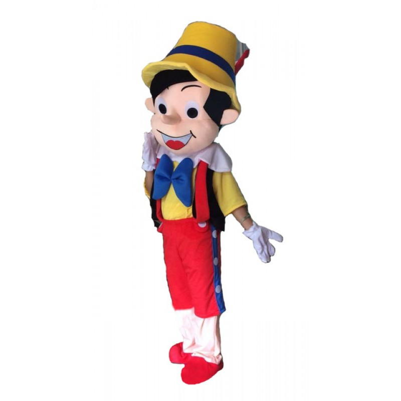 Cartoon Pinocchio Mascot Costume