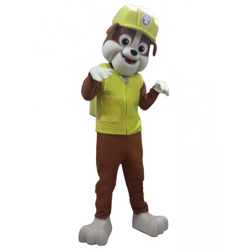 Paw Patrol Rubble Dog Mascot Costume