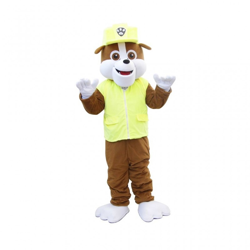High Quality Paw Patrol Rubble Dog Mascot Costume