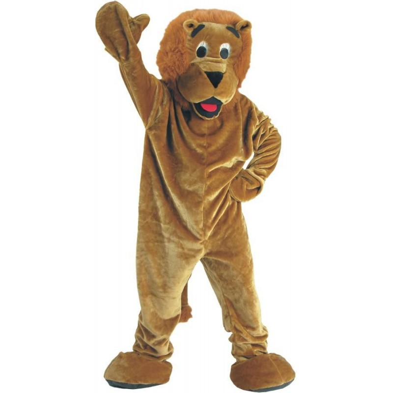 Happy Adult Lion Mascot Costume