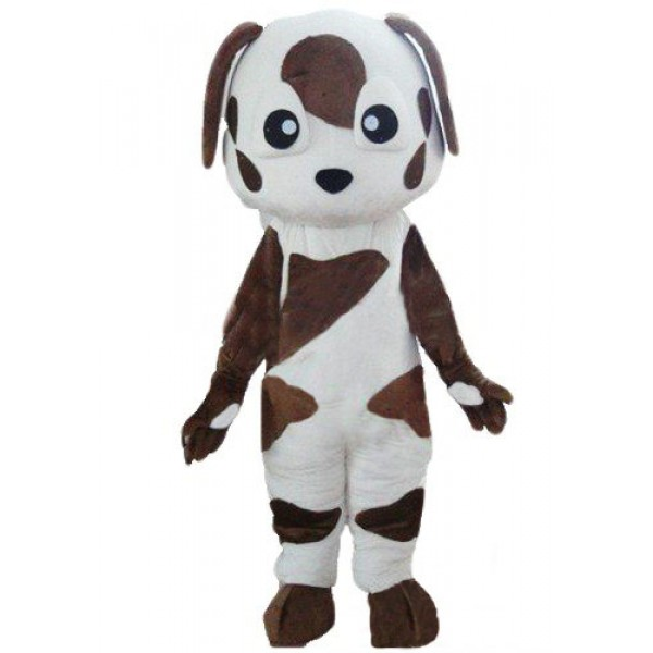 Baby Brown and White St Bernard Dog Mascot Costume