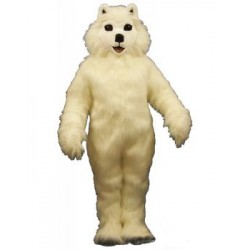 White Dog Mascot Costume