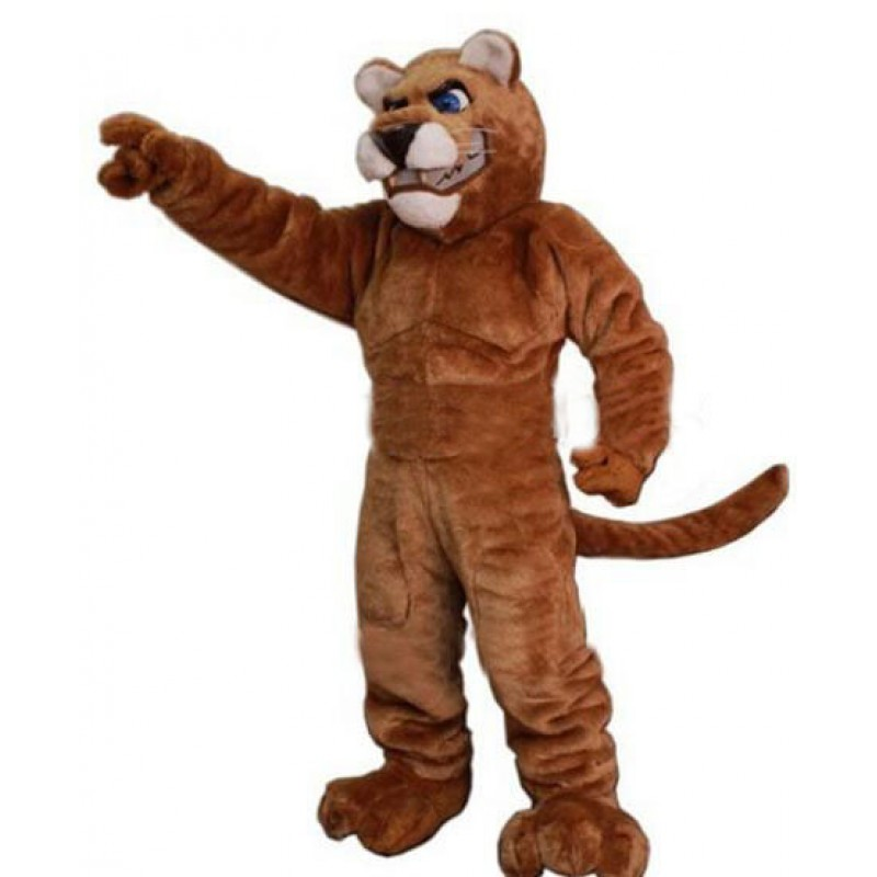 Power Leopard Panther Cat Cougar Mascot Costume