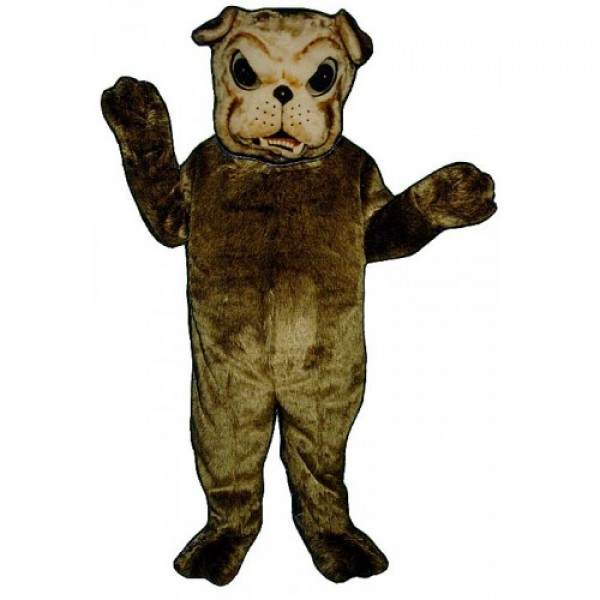 Brown Bulldog Mascot Costume