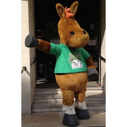 Cute Horse Mascot Costume Free Shipping
