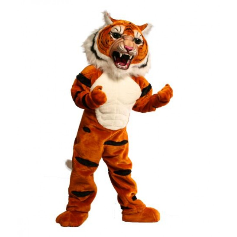 Super Muscle Tiger Mascot Costume