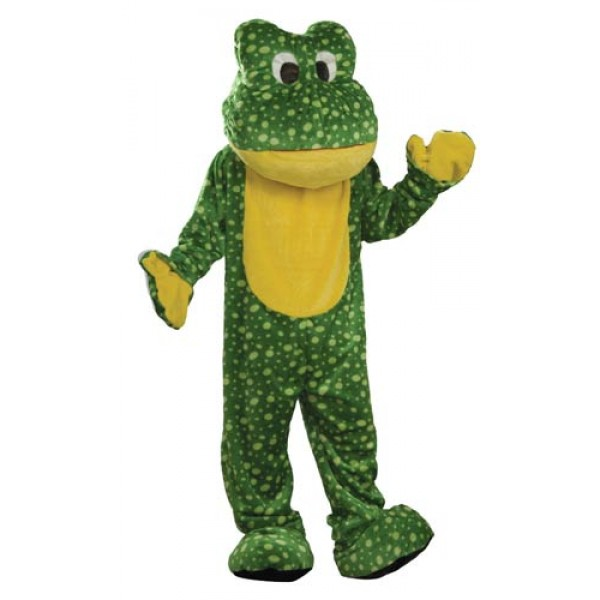 Deluxe Plush Frog Adult Mascot Costume