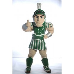 Spartan Trojan Knight Sparty Mascot Costume Free Shippping