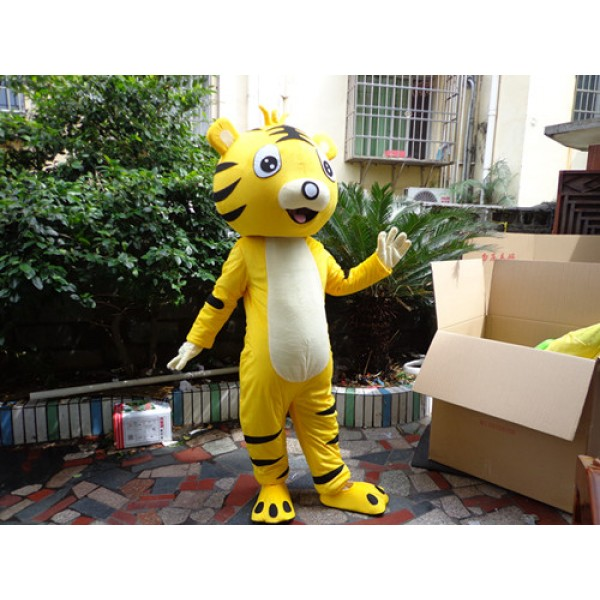 Yellow Cartton Tiger Mascot Costume Free Shipping