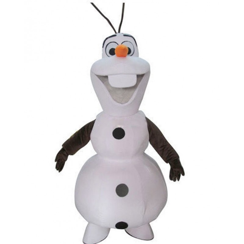 Smiling Olaf Mascot Costume Free Shipping