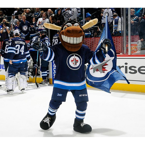 Winnipeg Jets mascot Mick E Moose