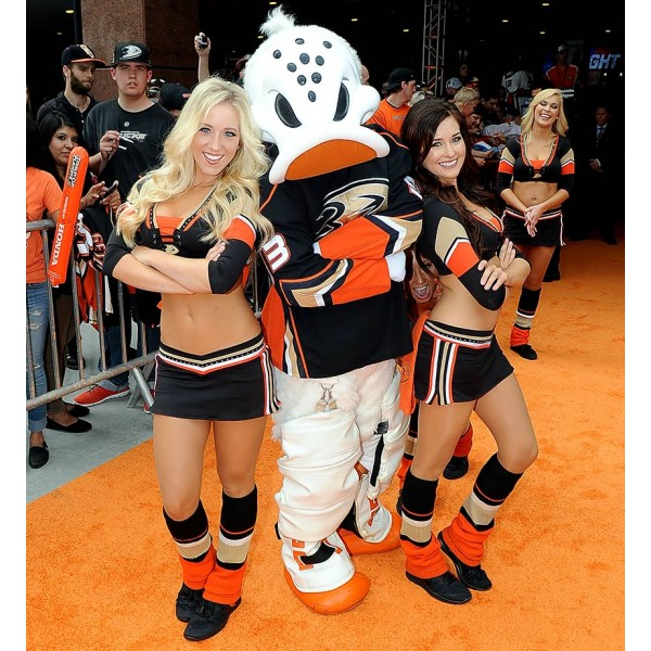 Anaheim Ducks mascot Wild Wing Power Players Ice Girls