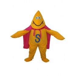 Yellow Starfish Short Plush Adult Mascot Funny Costume Free Shipping