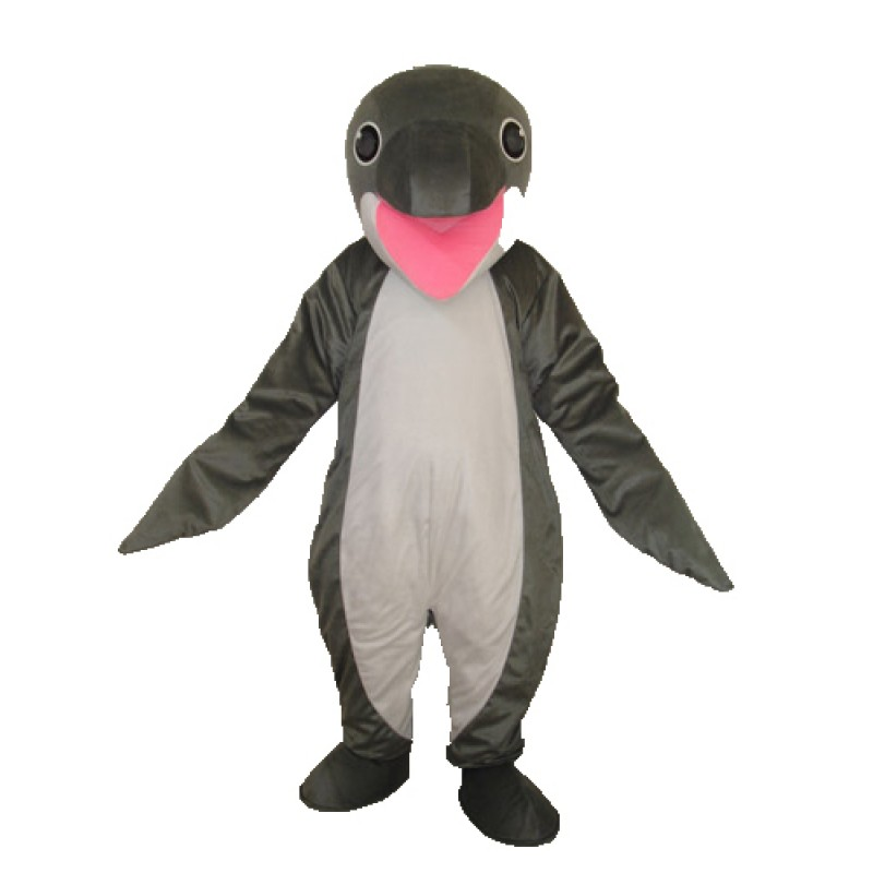 Grey Penguin Mascot Adult Costume Free Shipping