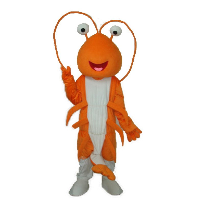 Prawn Mascot Adult Costume Free Shipping