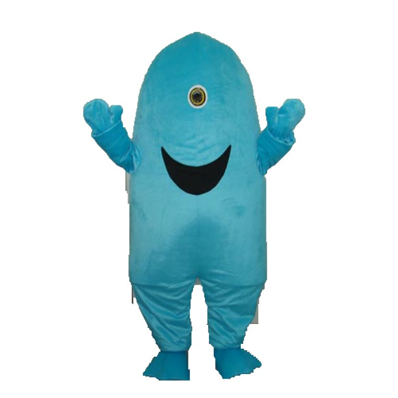 One-eyed Shark Mascot Adult Costume Free Shipping