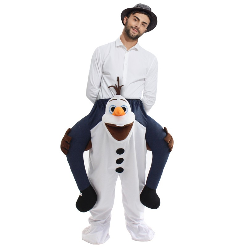Ride On Me Olaf Mascot Carry Costume for Halloween
