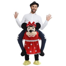Ride On Me Minkey Mascot Carry Costume for Halloween