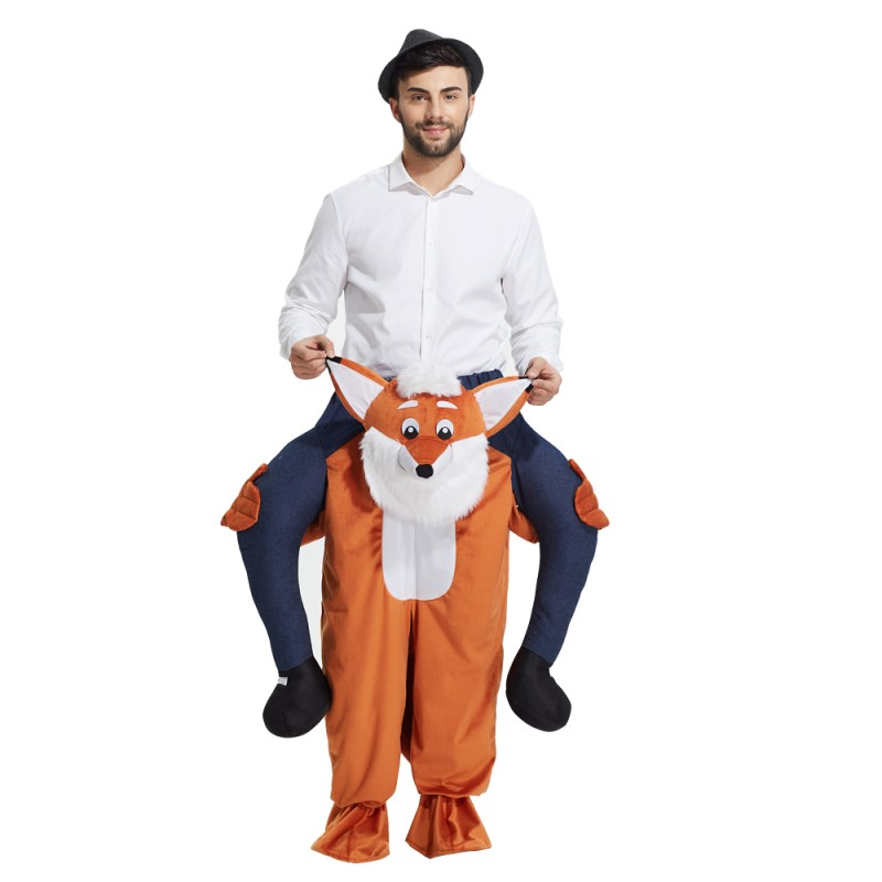 Fox Costume Ride On Me Mascot Fancy Dress