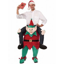 Santa Elf Costume Ride On Me Mascot Fancy Dress