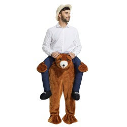 Teddy Bear Costume Ride On Me Mascot Fancy Dress