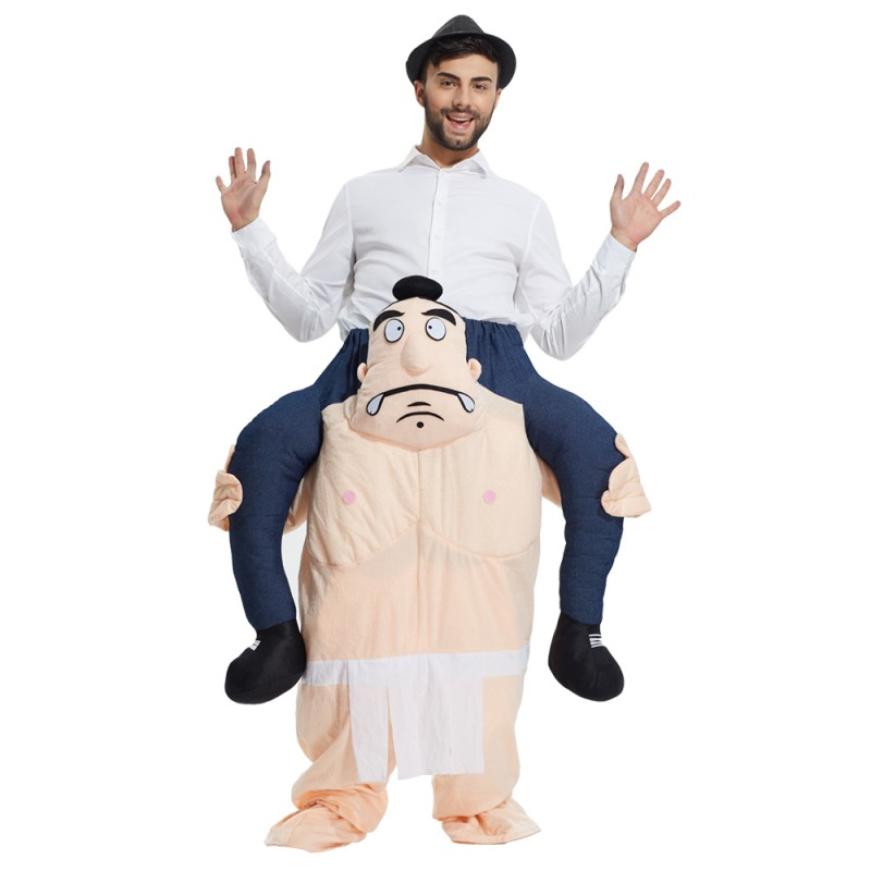 Sumo Costume Ride On Me Mascot Fancy Dress