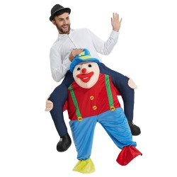 Clown Costume Ride On Me Mascot Fancy Dress