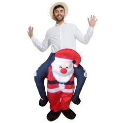 Santa Costume Ride On Me Mascot Fancy Dress