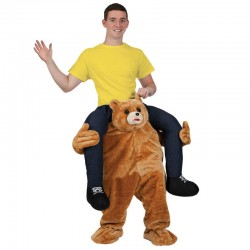 Cartoon Bear Costume Ride On Me Mascot Fancy Dress