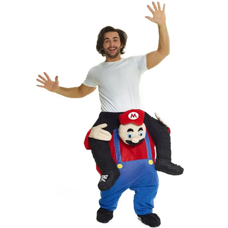 Mario Costume Ride On Me Mascot Fancy Dress
