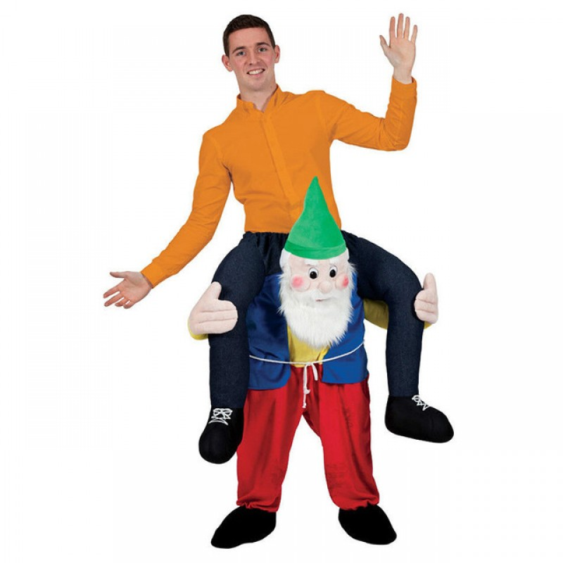 Dwarf Costume Ride On Me Mascot Fancy Dress