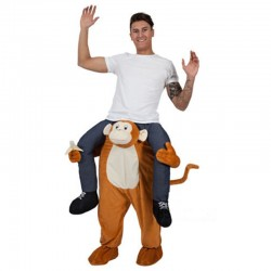 Monkey Costume Ride On Me Mascot Fancy Dress