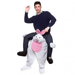 Rabbit Costume Ride On Me Mascot Fancy Dress