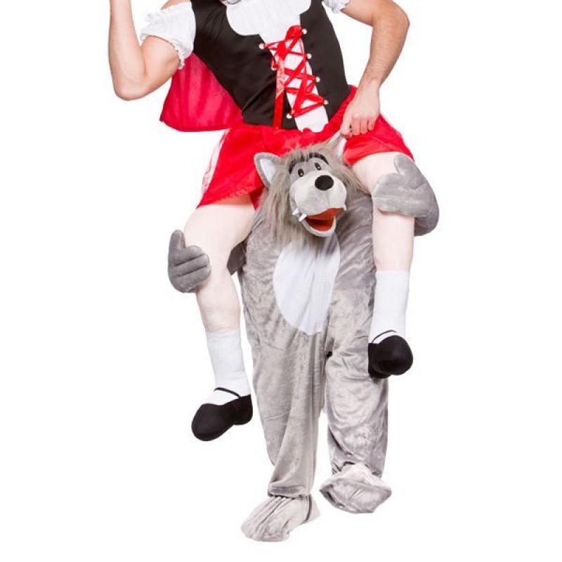 Wolf Costume Ride On Me Mascot Fancy Dress
