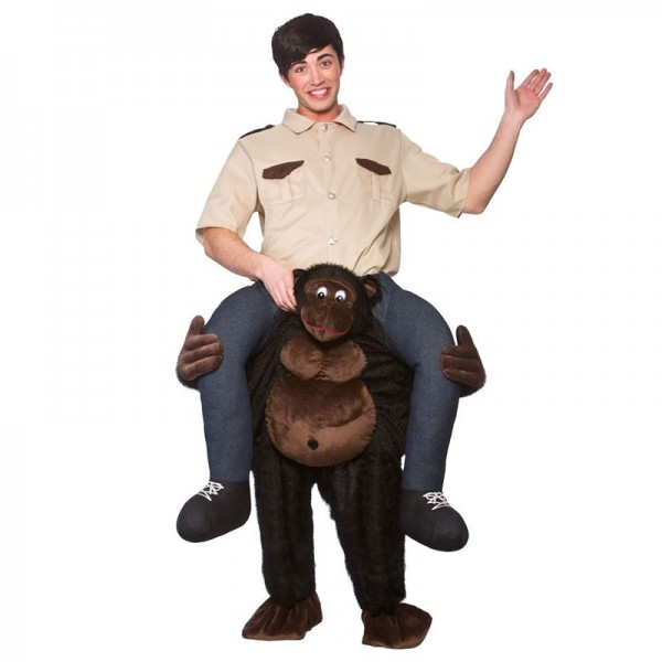 Chimpanzee Costume Ride On Me Mascot Fancy Dress