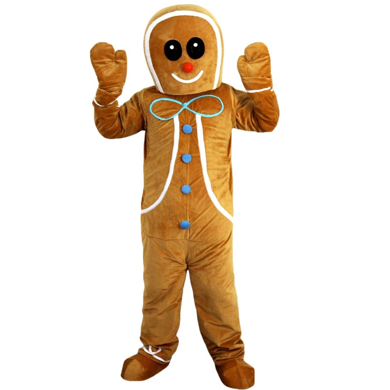 Ginger Bread Boy Mascot Costume