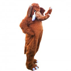 Long Tusks Elephant Mascot Costume